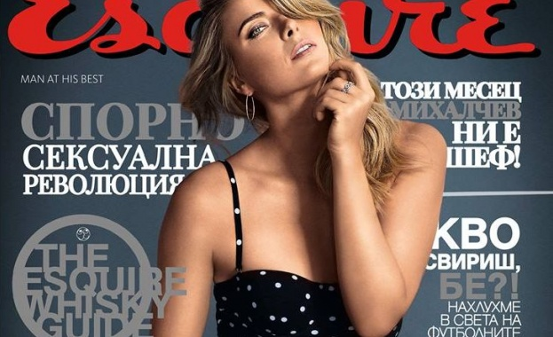 Мария Шарапова отново по бански на корицата на Esquire