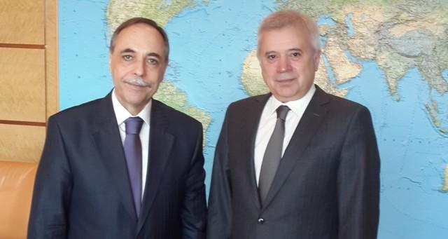 """Посланик Бойко Коцев се срещна на 7 април с президента на компанията """"Лукойл"""" Вагит Алекперов."""