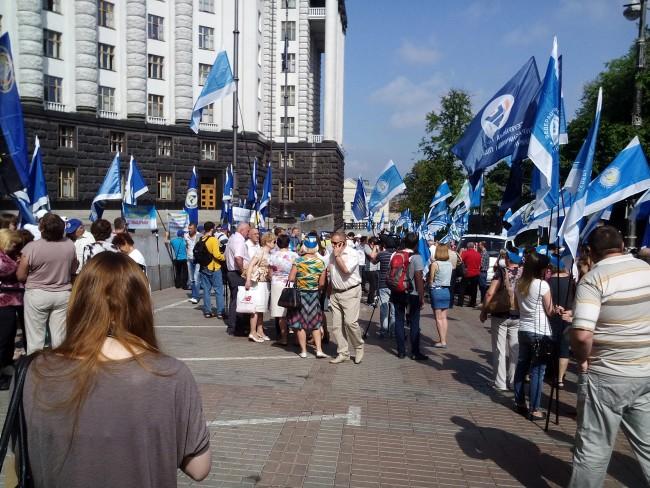 Нови протести пред Министерски съвет в Киев