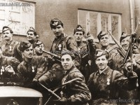Посрещане на българските парашутни войски (командоси), София 1945г.
