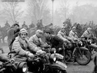 Моторизирани части на Първа българска армия, завърнала се от фронта, след Страцин, първа фаза, София, 1945 г.