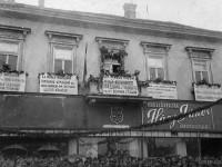 Посрещане на Първа българска армия в Унгария на 1 май 1945 г.