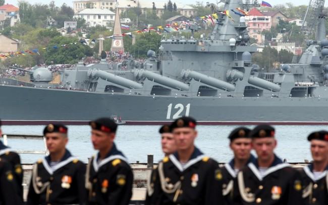 """Ракетният крайцер """"Москва"""" влезе в Атлантическия океан за провеждане на учения"""