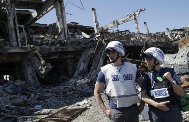 Наблюдателите на ОССЕ били подложени на 90-минутен минометен обстрел на територията на ЛНР
