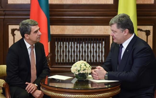 Порошенко се срещна с българския президент Росен Плевнелиев