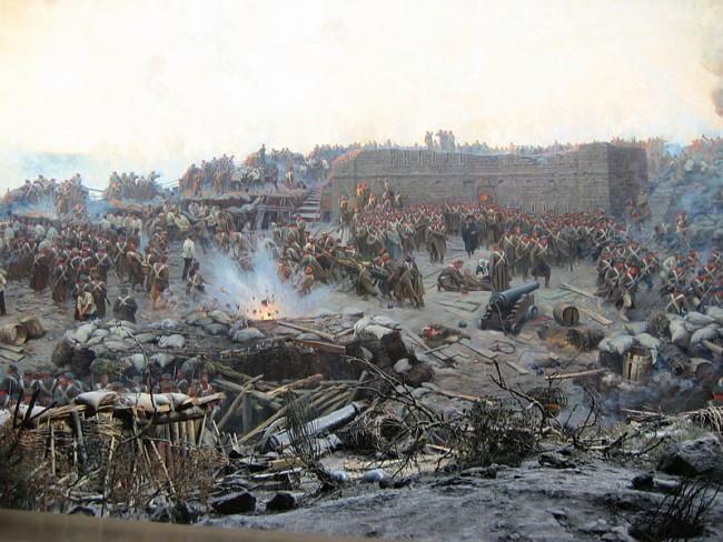 """""""Обсадата на Севастопол"""" (картина на Франц Рубо)"""