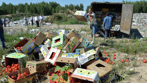 В Русия започнаха да унищожават санкционните продукти