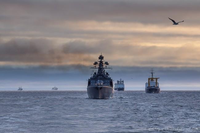 Руски военни кораби почват учения по Северния морски път