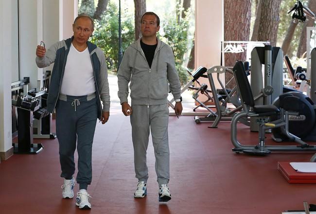 Путин и Медведев проведоха съвместна фитнес тренировка в Сочи