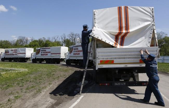 Колоната на МИС на Русия успешно достави хуманитарна помощ в Луганск и Донецк