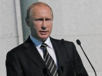 Владимир Путин по време на церемонията по откриването на съборна джамия в Москва. © Метцель/ТАСС