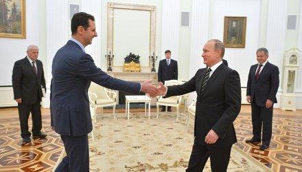 Путин и Асад проведоха преговори в Москва