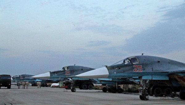 Самолети Су-34 от ВКС на Русия унищожиха команден пункт на ИД в Сирия