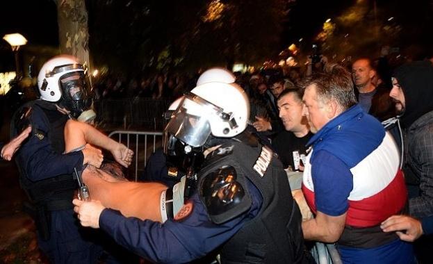 Ранени и арестувани по време на антиправителствени протести в Черна гора