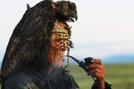 """Според легендата родът на Мария Сагалакова е от потомството на велик шаман. Снимка: РИА """"Новости""""."""