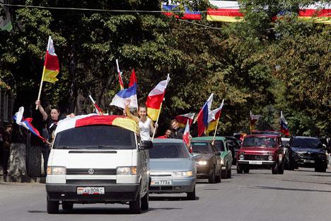 В републиката се канят да проведат референдум за присъединяване към Русия. Снимка: Reuters.