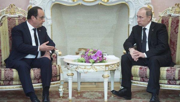 Путин и Оланд се договориха за координиране на действията в борбата срещу ИД