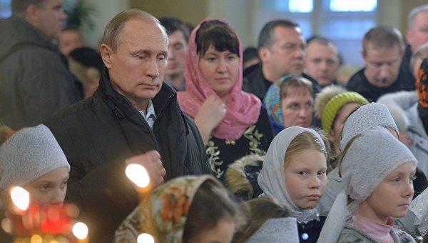 Путин поздрави руснаците по случай Рождество