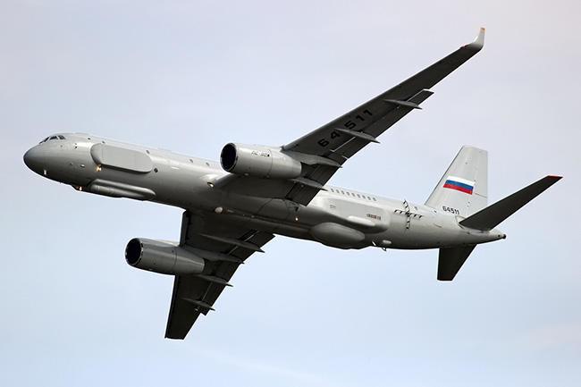 Русия използва в Сирия най-съвършения си разузнавателен самолет Ту-214Р