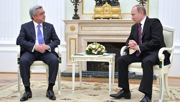 Арменският президент заяви, че подкрепя позицията на Русия по сирийския въпрос