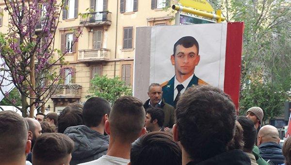 В Рим почетоха паметта на загиналия в Сирия руски офицер