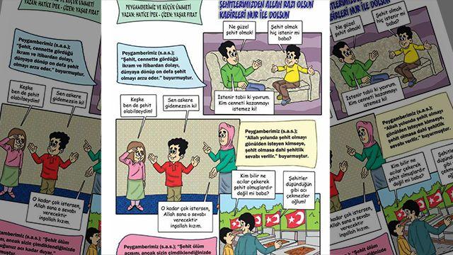 Турските власти убеждават децата с комикси, че е хубаво да си мъченик