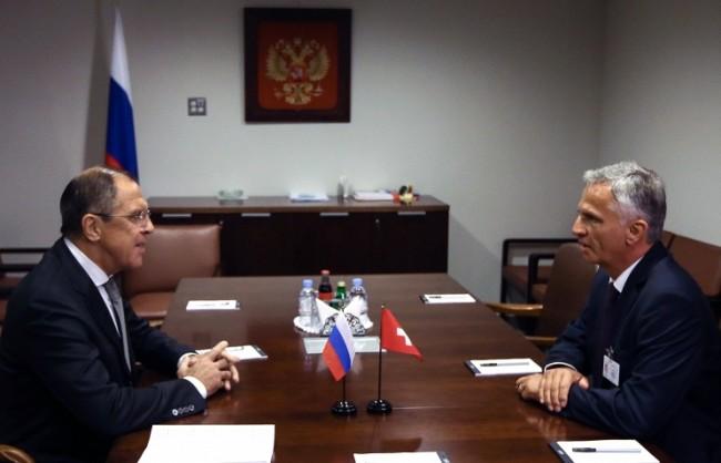 Лавров ще обсъди с швейцарския си колега ситуацията в Сирия и Украйна