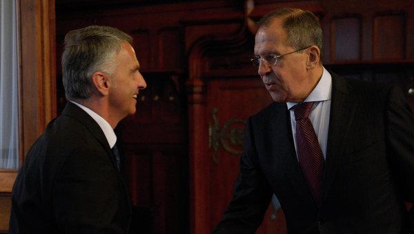 Лавров: Москва оценява нагласата на Швейцария за развитие на стратегическото партньорство с Русия