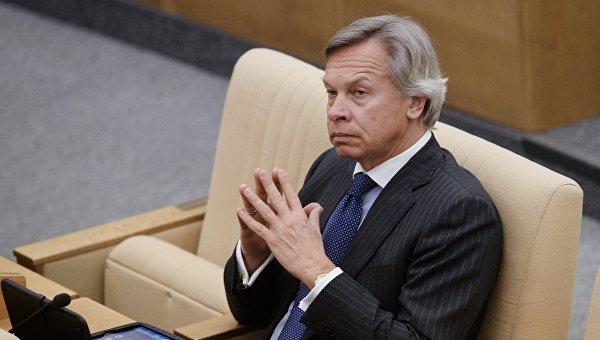 Пушков се пошегува с изказването на Олбрайт за Русия