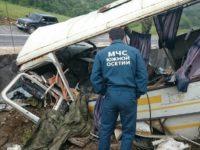 Автобус с руски военни се преобърна в Южна Осетия, има жертви
