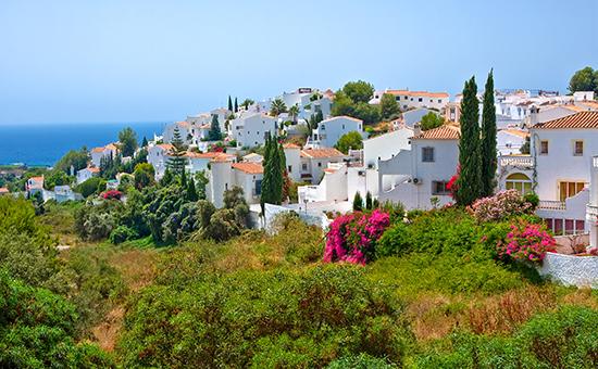 Spanish landscape, Nerja, Costa del Sol, Spain