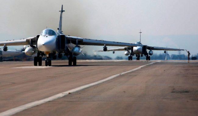 МО на РФ публикува видео на поредния удар на Ту-22М3 по обекти на ИД в Сирия