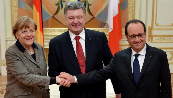 "Порошенко, Меркел и Оланд се договориха да задълбочат работата в ""нормандски формат"""