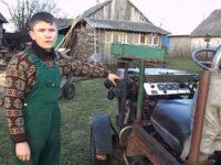 В Украйна изобретиха трактор, който се зарежда с… дърва