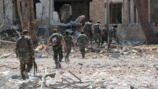 Войници от сирийската правителствена армия