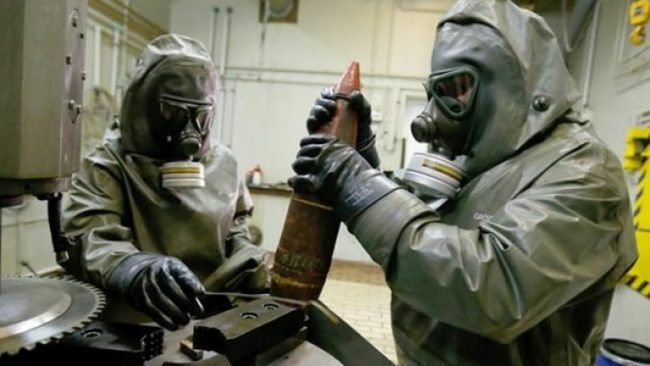 Syria chemical weapons shipment
