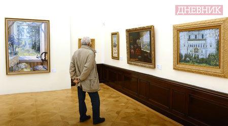 """Изложбата """"През отворените прозорци"""" в Национална галерия """"Двореца"""" показва картини от руския импресионизъм за пръв път в България. Фотограф: Юлия Лазарова"""
