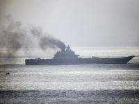 Крайцерът Адмирал Кузнецов до бреговете на Великобритания, 21 октомври 2016 г. Снимка: Getty Images