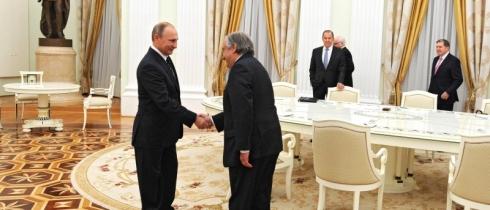 Путин се срещна с избрания за генерален секретар на ООН