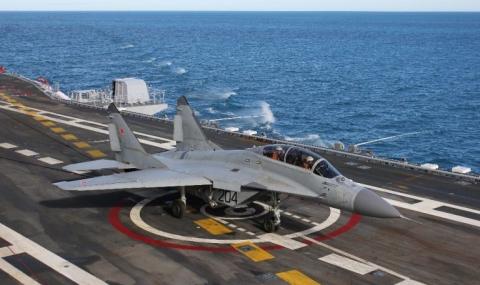 Руски изтребител се разби в Средиземно море