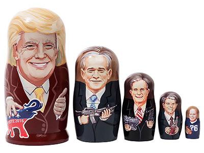 Матрьошки с лика на Доналд Тръмп се продават в Москва (СНИМКА)