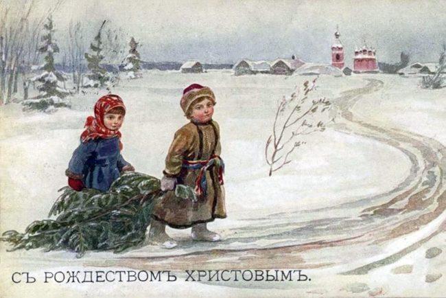 Време е за Коледа: винтидж картички от Русия