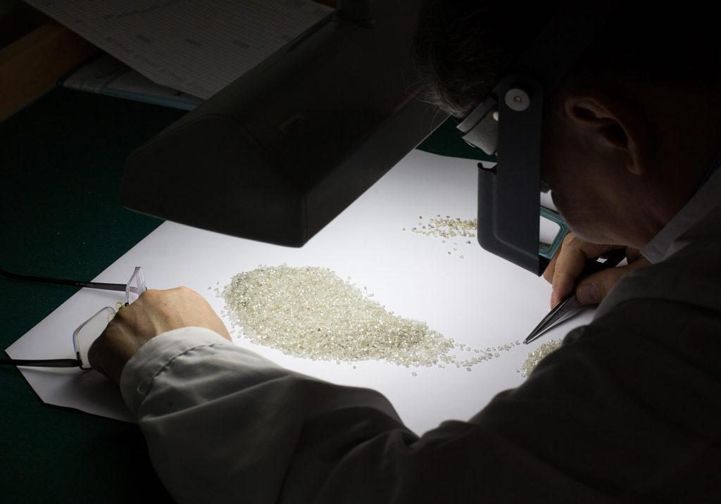 Якутск е основният регион и основен доставчик на необработени диаманти