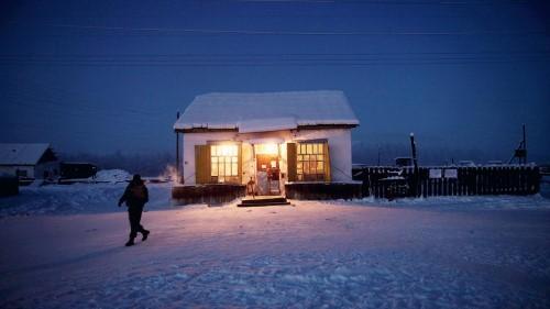 Тук има само един магазин, от който се снабдяват жителите на този отдалечен регион.