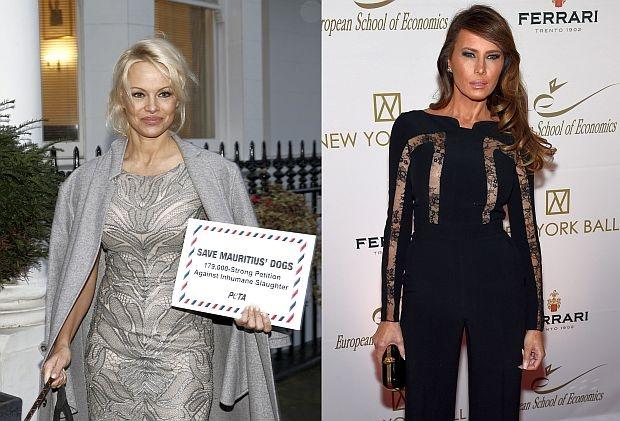 Hill: Памела Андерсън ще подари на Мелания Тръмп палто от Русия