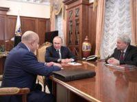 Михаил Фрадков, Владимир Путин и Леонид Решетников Снимка: РИСИ