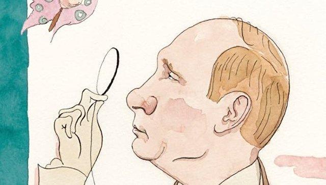 СписаниеNew Yorkerс обложка с изображение на Путин