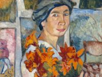 Автопортрет с жълти лилии. 1907
