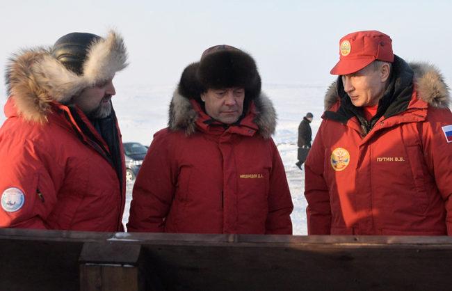 Путин посети  Арктика с визита на архипелага Франц-Йосифова земя