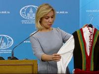 Наш журналист подари на Захарова българска народна носия